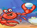 Lucky Crab - Colete todas as ostras no mar. Ajude o caranguejo fazer sua coleção, use o raciocínio para completar toda a tarefa desse jogo.