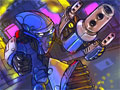 Jogo Online - M-Bot The Game, No controle de um poderoso Robô, você deve ter muita habilidade para combater todos os seus inimigos que estão totalmente prontos para o combate, Seja rápido e recolha itens bônus para aumentar o seu medidor de combo. Divirta-se com este Jogo que possui um cenário com gráficos futurísticos e interessantes.