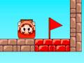 Mario Box Jump - Mario Bros se transformou em uma caixa e agora necessita de sua ajuda. Calcule o ângulo e a força necessária para lançar o personagem até o alvo, passe pelos obstáculos e chegue até a bandeira vermelha no final de cada fase.