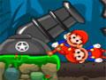 Mario Kaboom - Use seu canhão para lançar o personagem pelo cenário. Mire e atire o Mario para recolher as moedas com o menor número de tentavivas possíveis, tendo cuidado com alguns obstáculos perigosos.