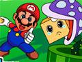 Mario Logs - Ajude o Mario a empilhar caixotes. Sobre uma plataforma que se move tente colocar o maior número de caixa até a marca e tenha cuidado para que elas não caíam.