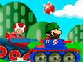 Mario Tank Adventure 2 - No mundo do cogumelo uma guerra foi lançada. Ajude o Mario Bros em mais essa batalha, atire nos inimigos e destrua todas as fortaleza de seus adversários.