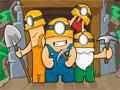 Minercs - Ajude os mineradores escavar a caverna. Controle os dois personagens pelo ambiente para recolher todas as pedras existentes, cada minerador tem que pegar o diamante da mesma cor que ele.