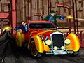 Mobster Roadster - Você é um dos integrantes da Máfia. Sua missão é pilotar o carro mirando e atirando nos seus inimigos, seja rápido antes que eles destruam o seu veículo.