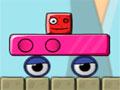 Monsterland Junior Vs Senior - Retire com cuidado os obstáculos pelo caminho. Faça com que o bloco vermelho pequeno encontre o grande, não deixe que ele caía para fora da plataforma.