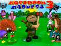 Mushroom Madness 3 - Voc� tem uma planta��o de cogumelo e os animais da florestas est�o afim de comer tudo. Sua miss�o � impedir que eles cheguem perto, bata neles para espant�-los com os objetos dispon�vel no momento.