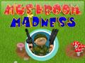 Jogo Mushroom Madness, Você esta preparando um churrasco de cogumelos e diversos animais da floresta estão querendo acabar com o seu banquete saboroso, prepare-se para acabar com todos eles, se equipe com diversas armas e esteja preparado para o combate, não deixe nenhum animal chegar perto dos cogumelos.