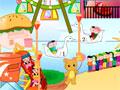 Crie um parque de diversões dos seus sonhos. Posicione cada brinquedo em aréa escolhida por você, só tome cuidado para não deixar muito perto e atrapalhar a movimentação das crianças. Divirta-se!