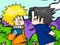 Sasunaru esta com muita vontade de dar um beijo no Naruto, para isso você tem que ajudar para que assim consiga entregar um beijo, seja rápido e clique repetidamente na tela, pois o tempo se esgota rapidamente!
