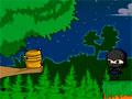 Ninja Delivery - O ninja precisa de sua ajuda para atravessar a floresta. Retire os obstáculos para conseguir passar pela mata, clique sobre as coisas para ocorrer um reação.