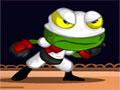 Ninja Frog - Uma malvada bruxa transformou um belo príncipe em sapo. Sua missão é ajuda-lo a quebrar o feitiço, salte pelas plataformas recolhendo as moedas.