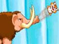 Nutty Mania - Use o mamute para jogar os esquilos pelo cenário. Mire e atire nas nozes para recolher todas, seja ágil para concluir todo o estágio.