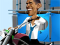Obama Rider, O Presidente dos Estados Unidos, Sr. Barack Obama estava navegando na internet e infelizmente esqueceu o hor�rio de seus compromissos e para piorar o seu motorista particular esta ausente. Sua miss�o neste game � ajuda-lo a conduzir uma moto por diversos obst�culos da cidade. Seja r�pido, pois resta poucos minutos para iniciar uma reuni�o muito importante.