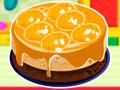 Orange Ribbon Cheesecake - Prepare um delicioso cheesecake para a festa. Siga as instruções antes de começar a fazer o bolo e respeite cuidadosamente o tempo do cozimento.