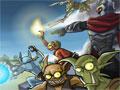 Jogo Overlord 2 - Tower Defense, você tem que colocar estrategicamente seus criados para proteger seu grande castelo do ataque inimigo, ganhe dinheiro e recrute novos combatentes, divirta-se!
