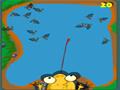 Use a língua do sapo para caçar e comer o máximo de moscas que você puder.