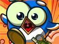 Jogo Online - Penguin Destroyer, Sua missão neste game é eliminar todos os pinguins malvados que estão espalhados pelo cenário. No poder de diversas granadas você deve acerta-los com poucos explosivos, calcule a força que você deve colocar no canhão e acabe com todos o mais rápido possivel. Complete todos os níveis e acumule muitos pontos.