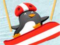 Penguin Skating 2 - Ajude o filhote de pinguim a esquiar e chegar até sua casa. Você tem que ter muito cuidado ao manobrar para que ele não colida ou caía na água.
