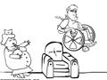 Em Pepe Pillz seu objetivo é ajudar o Sr. Hebert a fugir da enfermeira que esta querendo dar as pílulas do seu tratamento, cuidado com os obstáculos, seja esperto e não deixe ela te pegar.