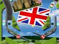 Jogo Pinball Britain, o clássico Pinball dos fliperamas em uma versão um pouco diferente, neste jogo você poderá explorar toda a Grã Bretanha, acertando nos itens do jogo e passando pelas estradas, ganhe muitos pontos rebatendo a bola.