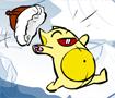 Leve a touperinha o mais longe possível, pulando pelos blocos de gelo sem cair na água.
