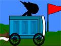 Potty Racers 3 - Controle seu carro para que pegue impulso e voe. Você tem que manter ele sobrevoando o maior tempo possível para ganhar dinheiro e investir em mais acessórios para seu veículo.