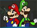 Mario e Luigi deve eliminar aos soldados do castelo para que o Super Mario possa entrar no e resgatar a princesa.
