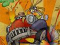Jogo - Red Jet Rabbit, Você é um coelho que adora testar veículos com modificações. Conquiste dinheiro e coloque novos equipamentos para que seu carro fique ainda melhor na pista. Preste muita atenção com os obstáculos e seja o mais rápido do Mundo.