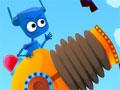Jogo Robo Bomber, Colete todas as criaturas do cen�rio, Atire o pequeno monstro pelo canh�o, teste suas habilidades de mira e divirta-se completando todos os est�gios deste game.