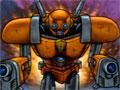 Robot Legions - Controle o personagem pelo cen�rio exterminando todos os monstros. Em cada est�gio completado novos rob�s v�o aparecendo para lutar contra os inimigos, recolha as sobras deles para comprar melhorias.