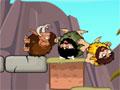 Rolly Stone Age - Protege os mamutes de um ataque. Tire os obstáculos do caminho fazendo com o homem caía, só tenha cuidado para não derrubar o alvo errado.