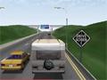 Dirija seu trailer pela estrada, porem tome muito cuidado com a velocidade e com os outros veículos que estão na pista, consiga chegar até o final antes de todos os turistas.