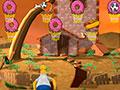 Simpson Hoops - Ajude o Homer Simpsons acertar a cesta. Mostre toda habilidade mirando e atirando a bola de basquete para marcar o maior número de pontos possíveis, recolha também o bônus em cada alvo.