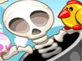 Skeleton Launcher - Retire os pintinhos de dentro dos ovos. Com seu canhão mire no alvo para quebrá-los, seja rapido para libertar o bichinho, tenha uma boa mira quanto menos esqueletos utilizar melhor será seu desempenho.