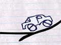 Com um cenário que você não esta acostumado a jogar, você terá que passar por obstáculos que foram desenhados em um papel, cuidado para não deixar o carro capotar.
