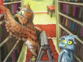 Jogo Smart Owls - Ajude as corujas a encontrar um livro que é mágico. Encontre as diferenças entre as cenas e monte o quebra-cabeça, seja rápido e evite erros para não perder pontos.
