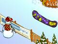 Jogo Sno Problem, Após ser humilhado o Boneco de Neve resolveu se vingar de todos que praticam snowboard. A sua missão neste game é atirar bolas de neve contra todos que passar pela frente do Boneco, seja rápido e derrube o máximo de pessoas que você conseguir.