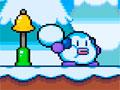 Snow Tale - Ajude o homem de neve a recolher todos os cristais. Ande pela plataforma com cuidado para não ser atingido pelos inimigos, não esqueça de pegar também os picolés espalhados.