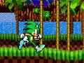 Jogo - Sonic Kamikaze, Mais um game de muitas aventuras na presença do Sonic, Sua missão é ajuda-lo a alcançar o ponto mais distante do cenário, preste atenção em todos os obstáculos e inimigos que estiver em seu caminho e acumule muitos pontos.