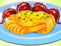 Spaghetti And Meatballs - Prepare uma deliciosa macarronada. Use todos os seus dotes culinário para fazer um prato maravilhoso, siga todas as instruções de preparo para dar tudo certo.