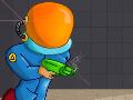 Jogo Spectro Destroyer, Acabe com todos os inimigos de cada sala utilizando os objetos que estão dentro dela. Teste suas habilidades e Atire para que Faça curvas até acertar os seus adversários para que consiga abrir o portal do próximo nível. No comando de um Super Herói você deve derrotar todos que estiver em seu caminho.