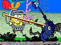 Spongebob Deep Sea Warrior - Ajude o Bob Esponja lutar contra os inimigos de lata. Encare mais esse desafio e mostre suas habilidades, golpeie cada soldado usando o seu punho para vencer cada um.