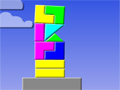 Empilhe as peças na plataforma e tente alcançar o nível mais alto do jogo para poder marcar muitos pontos.