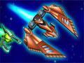 Com sua nave defenda a galaxia de um ataque inimigo. Destrua os meteoros e aeoronaves que encontrar e recolha os bônus que surgirem, mas com muito cuidado para sua nave não ser atingida.
