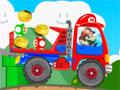 Super Mario Truck - Mario Bros está pilotando um caminhão de transportes. Sendo que sua missão é transportar os itens com muito cuidado sem perder nenhum pelo caminho até o seu destino final.