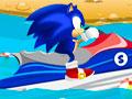 Super Sonic Ski - Acelere fundo com o Sonic. Controle um ski e mostre toda a sua habilidade, recolha o maior número de argola para somar muitos pontos.