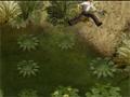 Você esta em um desafio que seu objetivo é atravessar o pântano saltando de planta em planta, porem tome muito cuidado com os crocodilos que estão famintos para te engolir vivo.