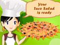 Taco Salad - Você convidou alguns amigos para jantar na sua casa. Prepare toda a refeição com cuidado para que tudo saia apetitoso, cortando os alimentos corretamente para que o prato fique saboroso e bonito.