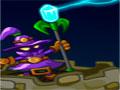 Tech And Magic - Proteja seu castelo do ataque dos robôs. Use seu poder mágico para impedí-los de se aproximar da sua torre, com os diamantes que for conquistando compre novos poderes ainda mais poderosos.