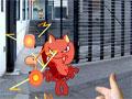 Jogo Toon Crisis, você acaba de adquirir novos poderes através do seu Walkman da Sony, ande pelas ruas atras de criaturas para que você possa elimina-las do jogo, tome muito cuidado com os ataques surpresas e divirta-se!